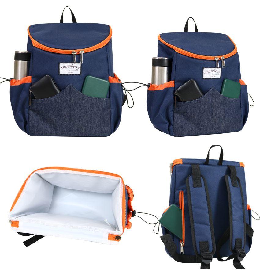 後揹型保溫冷袋-野餐,露營,旅行餐袋,便當水果零食都好放